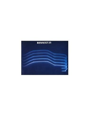 1985 RENAULT 25 INSTRUCTIEBOEKJE DUITS