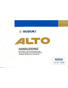 2004 SUZUKI ALTO INSTRUCTIEBOEKJE NEDERLANDS