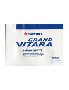 2007 SUZUKI GRAND VITARA INSTRUCTIEBOEKJE NEDERLANDS