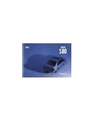 2001 VOLVO S80 INSTRUCTIEBOEKJE ENGELS