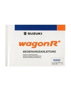 2003 SUZUKI WAGON R+ INSTRUCTIEBOEKJE DUITS