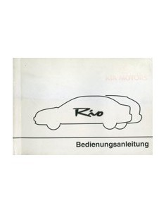 2001 KIA RIO OWNERS MANUAL HANDBOOK GERMAN
