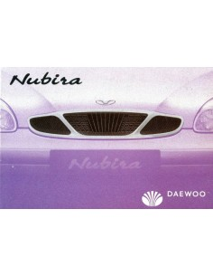2000 DAEWOO NUBIRA OWNER'S MANUAL DUTCH