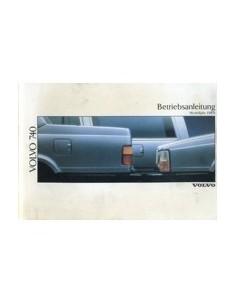 1989 VOLVO 740 OWNERS MANUAL HANDBOOK GERMAN