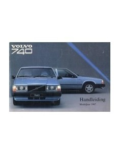 1987 VOLVO 740 OWNERS MANUAL HANDBOOK DUTCH