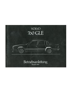 1983 VOLVO 760 GLE INSTRUCTIEBOEKJE DUITS