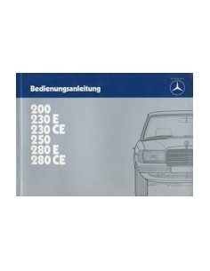 1983 MERCEDES BENZ E CLASS OWNERS MANUAL HANDBOOK GERMAN