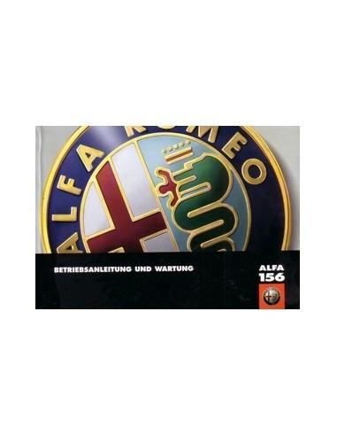 1999 ALFA ROMEO 156 INSTRUCTIEBOEKJE DUITS