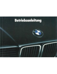 1988 BMW 7 SERIES OWNER'S MANUAL GERMAN