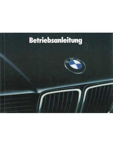 1988 BMW 7 SERIE INSTRUCTIEBOEKJE DUITS