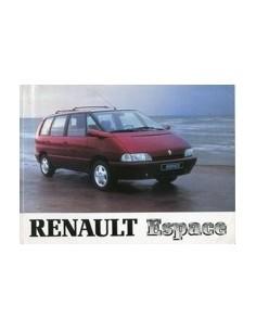 1994 RENAULT ESPACE OWNERS MANUAL HANDBOOK DUITS