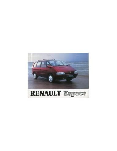 1994 RENAULT ESPACE INSTRUCTIEBOEKJE NEDERLANDS