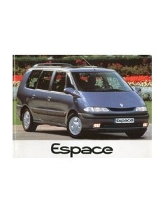 1997 RENAULT ESPACE OWNERS MANUAL HANDBOOK FRENCH