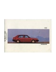 1991 VOLVO 340 OWNERS MANUAL HANDBOOK DUTCH