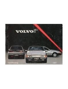 1987 VOLVO 480 ES INSTRUCTIEBOEKJE NEDERLANDS