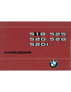 1976 BMW 5 SERIES OWNER'S MANUAL DUTCH