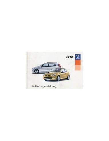 2003 PEUGEOT 206 INSTRUCTIEBOEKJE DUITS