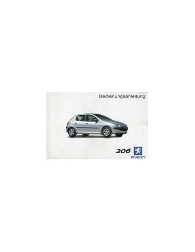 2002 PEUGEOT 206 INSTRUCTIEBOEKJE DUITS