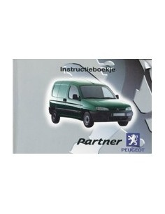 2001 PEUGEOT PARTNER INSTRUCTIEBOEKJE NEDERLANDS