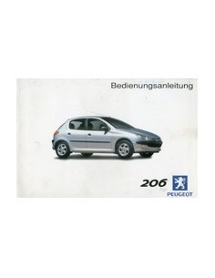 2003 PEUGEOT 206 INSTRUCTIEBOEKJE NEDERLANDS