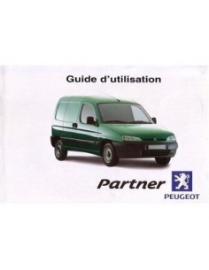 2001 PEUGEOT PARTNER OWNERS MANUAL FRENCH