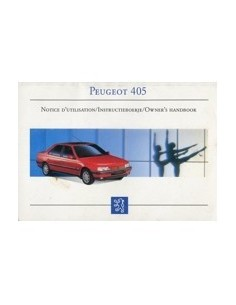 1993 PEUGEOT 405 OWNERS MANUAL HANDBOOK FRENCH DUTCH ENGLISH