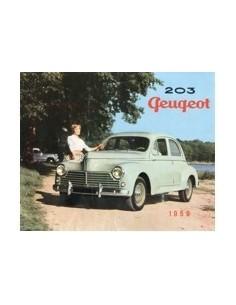 1959 PEUGEOT 203 BROCHURE DUTCH
