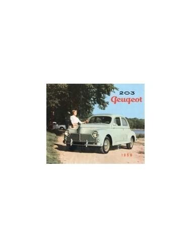 1959 PEUGEOT 203 BROCHURE NEDERLANDS
