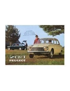 1970 PEUGEOT 204 BROCHURE NEDERLANDS
