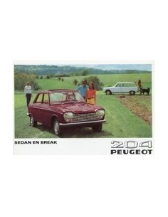 1969 PEUGEOT 204 SEDAN & BREAK BROCHURE NEDERLANDS