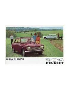1969 PEUGEOT 204 SEDAN & BREAK BROCHURE NEDERLANDS