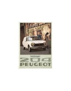 1976 PEUGEOT 204 VAN BROCHURE DUTCH