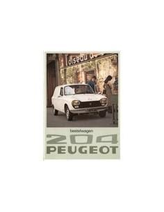 1976 PEUGEOT 204 BESTELWAGEN BROCHURE NEDERLANDS