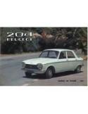 1967 PEUGEOT 204 SEDAN & BREAK BROCHURE NEDERLANDS