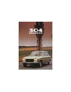 1980 PEUGEOT 304 BREAK BROCHURE NEDERLANDS