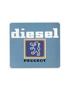 1981 PEUGEOT DIESEL PROGRAMMA BROCHURE NEDERLANDS
