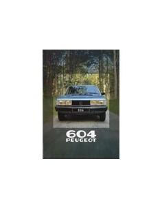 1980 PEUGEOT 604 BROCHURE DUTCH