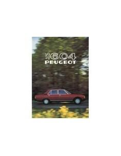 1981 PEUGEOT 604 BROCHURE NEDERLANDS