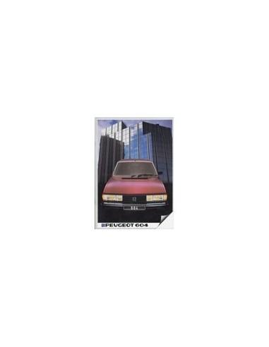 1983 PEUGEOT 604 BROCHURE NEDERLANDS