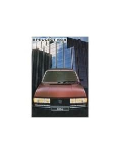1984 PEUGEOT 604 BROCHURE NEDERLANDS