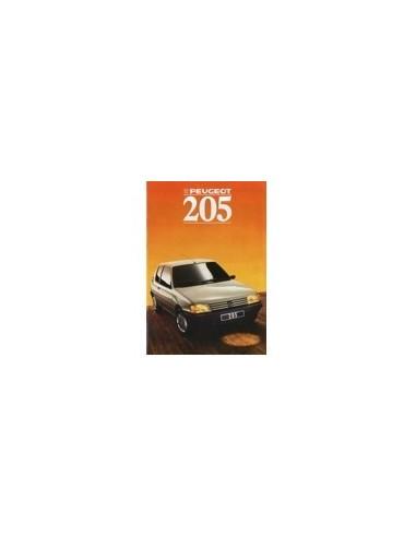 1988 PEUGEOT 205 BROCHURE NEDERLANDS