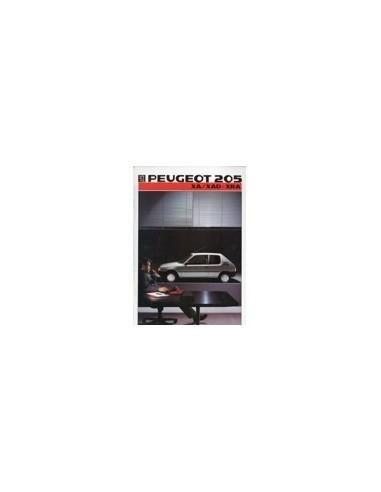 1986 PEUGEOT 205 XA/XAD - XRA BROCHURE FRANS
