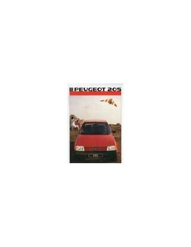1986 PEUGEOT 205 BROCHURE NEDERLANDS