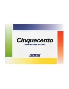 1995 FIAT CINQUECENTO INSTRUCTIEBOEKJE DUITS