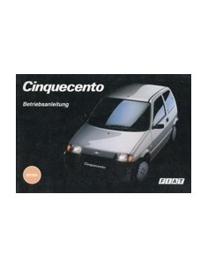 1994 FIAT CINQUECENTO OWNERS MANUAL HANDBOOK GERMAN