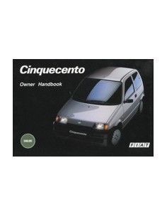 1993 FIAT CINQUECENTO OWNERS MANUAL HANDBOOK ENGLISH