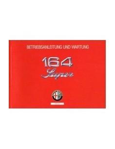 1992 ALFA ROMEO 164 SUPER INSTRUCTIEBOEKJE DUITS