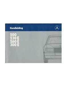 1986 MERCEDES BENZ E KLASSE INSTRUCTIEBOEKJE NEDERLANDS