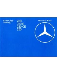 1980 MERCEDES BENZ E CLASS OWNER'S MANUAL GERMAN
