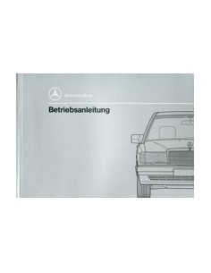1990 MERCEDES BENZ 190 OWNERS MANUAL GERMAN